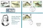 1983 British River Fish, Registered Historic Relics Izaak Walton FDC, Winchester Hants. cds