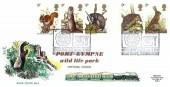 1977 British Wildlife, Romney Hythe & Dymchurch Railway (RHDR) FDC, SCT Bear Steps Shrewsbury H/S