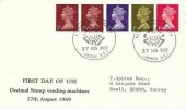 1969 QEII definitive Coil Issue 1s Multi value Coil, Display FDC, National Postal Museum London EC1 H/S