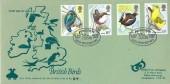 1980 British Birds, Green & Co.(Philatelics) FDC, Pioneers in Bird Protection Sandy Beds. H/S