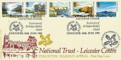 1981 National Trust, Bradbury LFDC No.10 Official FDC, National Trust Leicester Centre Restoration of Sir Robert Shirley's Church Staunton Harold Leicester H/S