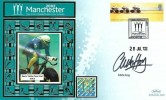 2002 Commonwealth Games, Benham Small Silk FDC, Commonwealth Games 2002 Manchester H/S, signed by Sir Chris Hoy