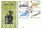 1974 Universal Postal Union, Benham Engraved FDC, First Day of Issue Philatelic Bureau Edinburgh H/S
