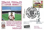 1993 Stoke City Versus Millwall Dawn Football Cover, Stoke City V Millwall 1st March back in the Division 1 Stoke on Trent H/S. Signed by Sir Stanley Matthews