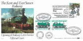 1979 Year of the Child, Kent & East Sussex Official Railway FDC, The Kent & East Sussex Railway Children's Day Tenterden Railway Station H/S +15p Railway Letter stamps