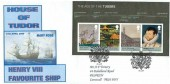 2009 The Tudors Miniature Sheet, Trenery Illustrated FDC, First Day of Issue London SE10 H/S
