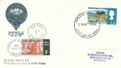 1966 Talyllyn Railway Company FDC, 1/3d Harlech Castle stamp only Harlech Merioneth FDI + 1/- Railway Letter stamp