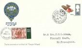 1966 British Birds, set of 4 Talyllyn Railway Company FDC's, Towyn Merioneth cds+ 1/1 Railway Letter Stamp