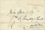 1808 Wrapper, GUILDFORD / 30 Boxed Mileage mark, Manuscript 5, address to London