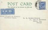 1932 First Flight Postcard, London to Paris, London Air Mail cds