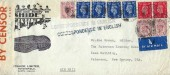 1941 Censored Itshine Ltd Petersfield Air Mail cover, Petersfield to Paterson New Jersey USA, Petersfield cds