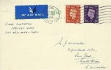 1938 2d & 3d Postcard FDC, First Flight Cover, London to San Jose Costa Rica, London FS Air Mail Cancel