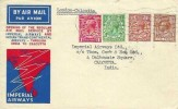 1933 First Flight Cover, Extension of London - Katachi Servive to Calcutta India, London FS Cancel