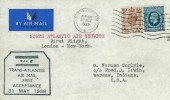 1939 First Flight Cover, Birmingham to Warsaw Indiana USA, via first acceptance for the transatlantic serive via Marseilles 31st May 1029, Flown by Pan American Airways Ltd. Birmingham Cancel