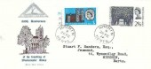 1966 Westminster Abbey, North Herts. Stamp Club FDC, Hitchin Herts. cds