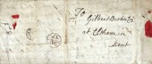 1784 Entire Letter to Gilbert Burton Esq. Eltham Kent, receiving Bishop Mark OC/17