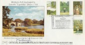 1983 British Gardens Havering Official FDC, Blenheim Palace Woodstock Oxford H/S, Signed by Duke of Marlborough