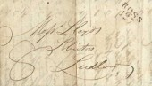 1813 Entire Accounts List, ROSS/127 Mileage Mark, addressed to Ludlow