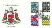 1982 British Textiles, Pilgrim Official FDC, The Textile Institute Manchester 1910 - 1982 H/S