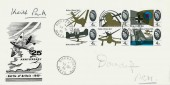1965 Battle of Britain, Illustrated FDC, Rickmansworth Herts. cds 4x 4d stamps only, signed by Air Chief Marshall Sir Keith Park & Air Chief Marshall Lord Hugh Dowding