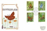 1981 Butterflies, Historic Relics FDC, First Day of Issue Philatelic Bureau Edinburgh H/S