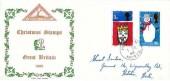 1966 Christmas, North Herts. Stamp Club FDC, Hitchin Herts. cds