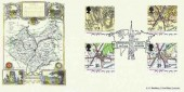 1991 Maps, Bradbury 150th Anniversary of Thomas Cook's First Excurion Official FDC, Birthplace of Tourism Leicester H/S