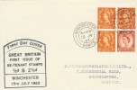 1963 2s Holiday Booket Se-tenant Pane on J.Sanders Display FDC
