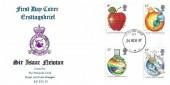 1987 Sir Isaac Newton, RAF Bruggen FDC, Forces Post Office 93 cds.