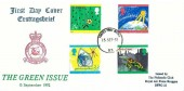 1992 Green Issue, RAF Bruggen FDC, Forces Post Office 93 cds