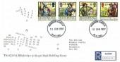 1992 English Civil War, Registered Royal Mail FDC, Windsor Castle SL4 1NJ cds