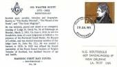 1971 Literary Anniversaries, Koutroulis Sir Walter Scott Masonic FDC, 7½p Sir Walter Scott stamp only Edinburgh FDI