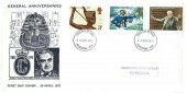 1972 General Anniversaries, Illustrated FDC, Folkestone Kent FDI