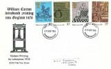 1976 William Caxton, Modern Printing by Letterpress FDC, Peterborough FDI