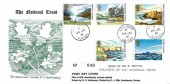 1981 National Trust, D P Hathaway FDC, Haslemere Surrey cds + Cachet