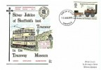 1975 Stockton & Darlington Railway, Dawn Silver Jubilee of Sheffield's Last Tramcar FDC, 7p Stephenson's Locomotion stamp only, Sheffield FDI