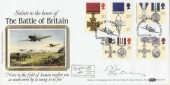1990 Gallantry 50th Anniv.of the Battle of Britain Benham BLCS57 Official FDC, signed