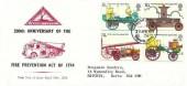 1974 First Fire Service Legislation, North Herts. Stamp Club FDC, Stevenage Herts. FDI