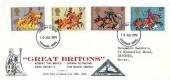 1974 Great Britons, North Herts. Stamp Club FDC, Stevenage Herts. FDI