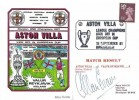 1981 Aston Villa v Valur Reykjavik Iceland Kick Off in European Cup Dawn Football cover, Aston Villa League Champions Birmingham H/S, Signed by Allan Evans