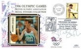 1996 Olympics Games Benham Cover, Atlanta Welcomes the World Atlanta Georgia H/S, Signed High Jumper Steve Smith