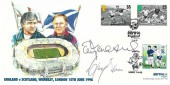 1996 Euro 96 Grandborough England V Scotland Cover, Euro 96 Wembley England H/S, Signed by the two Managers Terry Venables & Craig Brown