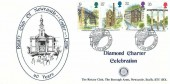 1989 Industrial Archaeology, Rotary Club of Newcastle Under Lyme Diamond Charter Celebration FDC, First Day of Issue Telford H/S