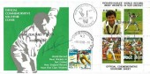 1990 New Zealand Richard Hadlee World Record for most Wickets in Test Cricket Souvenir Cover, New Zealand v India Christchurch H/S + Christchurch NZ Loose Letter cds, signed by Richard Hadlee
