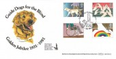 1981 Year of Disabled Benham BOCS(2)2 Official FDC, Guide Dogs Golden Jubilee Wallasey H/S
