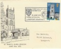 1972 Village Churches St. Mary's Huish Episcpoi Langport Somerset Official FDC, Scarce.