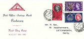 1961 Post Office Savings Bank, North Herts. Stamp Club FDC, Letchworth Herts . cds