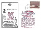 1973 Liverpool V Red Star Belgrade European Cup Flown Dawn Football Cover, Porec cds, Signed by the crew of the Flight