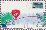 1987 Virgin Atlantic Flyer USA to Europe by the Worlds Largest Balloon, Kingfield Maine US Postage Slogan,Signed by Richard Branson & Per Lindstrand