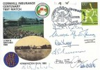 1980 Sporting Anniversaries, Stamp Publicity (SP) Official FDC, 17½p Cricket stamp only, Centenary Tour 1880 - 1980 Lord's London NW8 H/S, Signed by 7 Cricket Commentators